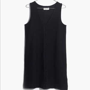 Madewell texture and thread button front dress